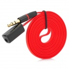 3.5mm Male to Female Audio Extension Cable - Red + Black (100 cm)