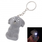 Cute Dog LED Keychain - Grey