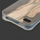 Stylish Protective Patterned TPU Back Case for IPHONE 4 / 4S - Grey + Multicolored