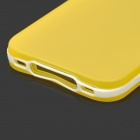 S-What Protective Matte TPU + PC Back Case for IPHONE 4 / 4S - White + Light Yellow