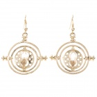 UBE UTY 1689 Sand Clock Style Zinc Alloy Earrrings for Women - Golden (Pair)