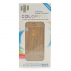 Wood Grain Style Protective Full Body Sticker Set for IPHONE 5 / 5S - Yellow