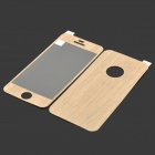 Autocollant de protection Full Body Style Grain de bois fixés pour l'IPHONE 5 / 5 s - jaune