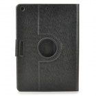 Protective Silk Pattern Flip-open PU Leather Case w/ Auto Sleep + 360' Rotating Back for IPAD AIR