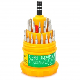 DYLSD 31-in-1 Multi-function Screwdriver Set - Silver + Yellow