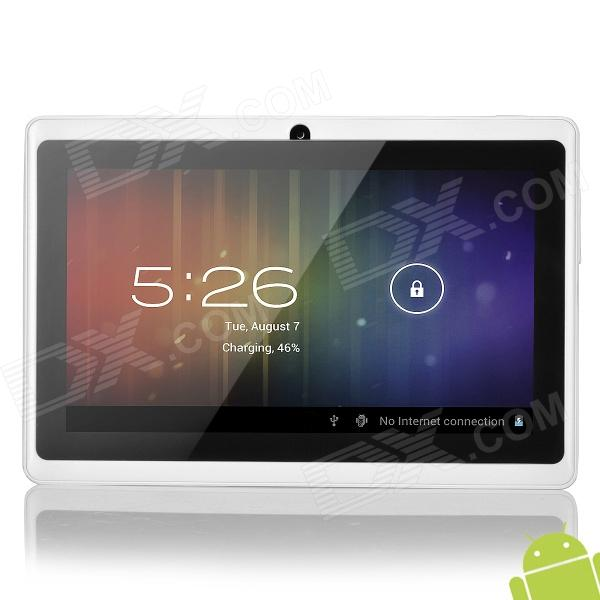 "A13 7"" Capacitive Touch Screen Android 4.1 Tablet PC w/ TF / Camera / Wi-Fi / G-Sensor - White"