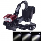 CREE T6 5-Mode 2-LED 3800LM Chargeable Strong Light Bicycle Light - Red + Black (4 x 18650)