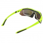 WOLFBIKE BYJ-013-L Outdoor Sports UV400 Proteção Polarized Goggles - Verde + Preto