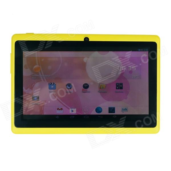 Q8 7.0 Android 4.2 Dual Core Touch Screen Tablet PC w/ Wi-Fi TF Double Camera - Yellow processor description languages 1