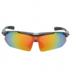 WOLFBIKE BYJ-013-B Outdoor Sports UV400 Protection Polarized Goggles - Black