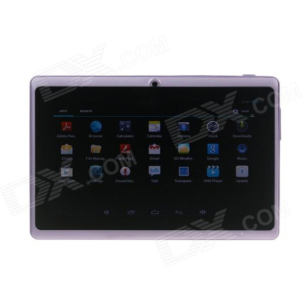 Q8 7.0 Android 4.2 Dual Core Touch Screen Tablet PC w/ Wi-Fi TF Double Camera - Purple processor description languages 1