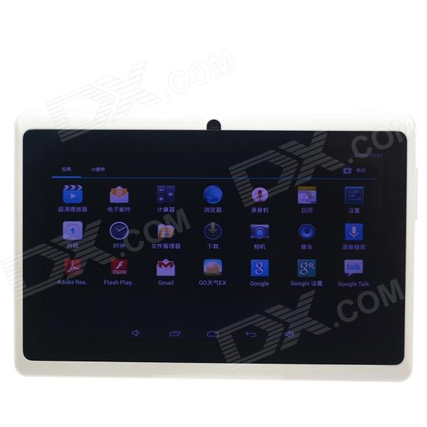 Q8 7.0 Android 4.2 Dual Core Touch Screen Tablet PC w/ Wi-Fi TF Double Camera - White