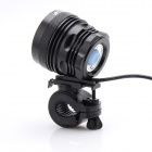 Zhishunjia LED 3200lm 3-Mode White Bicycle Light - Black (6 x 18.650)