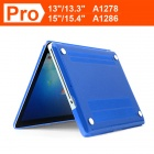 "ENKAY Crystal Hard Protective Case for Macbook Pro 15.4"" - Dark Blue"
