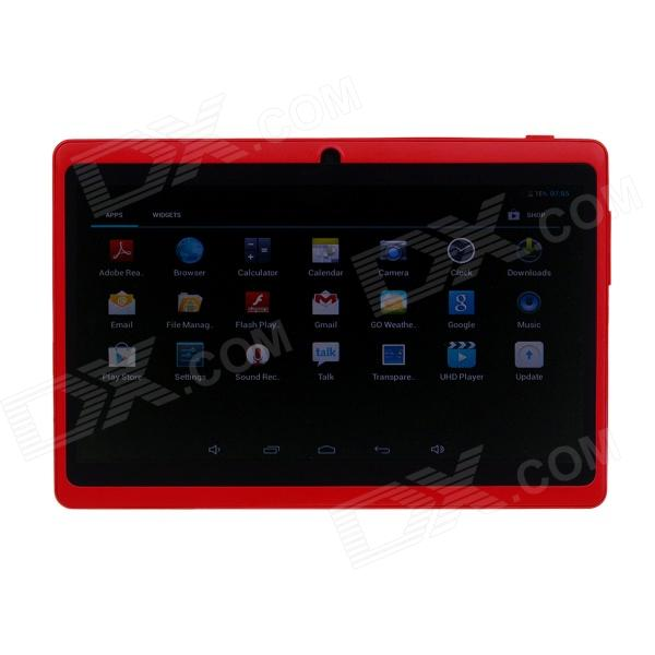 Q8 7.0 Android 4.2 Dual Core Touch Screen Tablet PC w/ Wi-Fi TF Double Camera - Red processor description languages 1