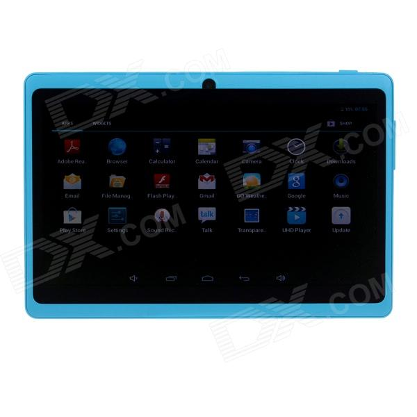 Q8 7.0 Android 4.2 Dual Core Touch Screen Tablet PC w/ Wi-Fi TF Double Camera - Light Blue processor description languages 1