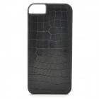 Rock Protective Durable Genuine Leather Back Case for IPHONE 5S - Black