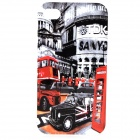 Retro Style Fashion TPU Back Case for IPHONE 4 / 4S - Grey + Multicolor