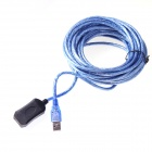 10m Male to Female USB Extension Cable - Black + Blue