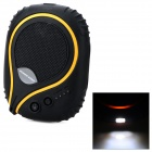 Outdoor Water Resistant Shock-Proof Portable 7800mAh Power Bank w/ LED Flashlight - Black + Orange