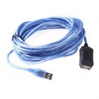 5m Male to Female USB Extension Cable - Black + Blue