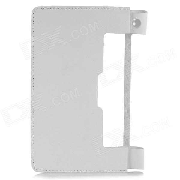 Protective PU Leather Case for 8 Lenovo Yoga Tablet B6000 - White чехол для планшета oem yd60 lenovo 8 b6000 8 lenovo b6000 for lenovo yoga tablet 8