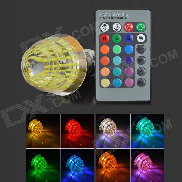 LetterFire G-003 Christmas Tree Style E27 3W 30lm 1-LED RGB Light Bulb - Yellow (AC 85~265V) letterfire g 003 christmas tree style e27 3w 30lm 1 led rgb light bulb red ac 85 265v