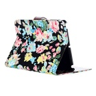 Flower Pattern PU Leather Case w/ Auto Sleep for IPAD MINI / RETINA IPAD MINI - Multicolored