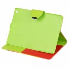 Protective PU Leather Case w/ Hand Strap + Holder + Auto Sleep for IPAD AIR - Multicolored