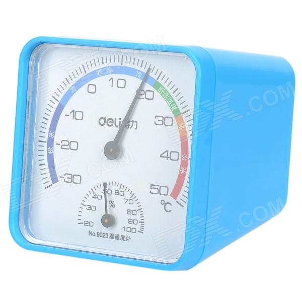 DELI 9023 Convenient Thermometer / Hygrometer - Blue