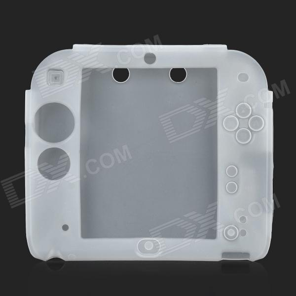 Stylish Protective Silicone Case for 2DS - White