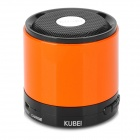 KUBEI 288B Mini Portable Bluetooth V3.0 Stereo MP3 Speaker w/ TF / Mini USB - Orange + Black