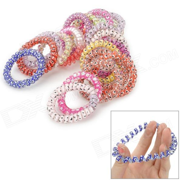 High Elastic Casual Colorful Hair Ring - Multicolored (20PCS) 300 400pcs lot candy color elastic hair bands headwear hair ring ropes ponytail holder one off for girls hair accessories