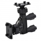 Universal Motorcycle Bicycle Mount Holder for GPS + Camera - Black