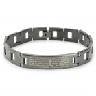 SHIYING SL000088 Fashion Bible Style 316L Stainless Steel Bracelet for Men - Black