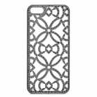 Hollowed-Out Pattern Plastic Back Case for IPHONE 5 / 5S - Black