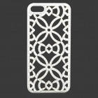 Hollowed-Out Pattern Plastic Back Case for IPHONE 5 / 5S - White
