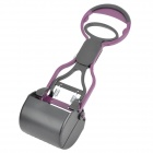 Portable ABS + Iron Pet Pooper Scooper - Black + Purple