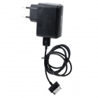 USB EU Plug Power Adapter w/ Data Cable for Samsung Tab - Black