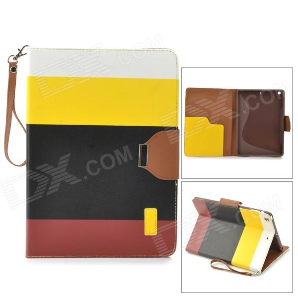 все цены на Protective PU Leather Case w/ Hand Strap for IPAD AIR - Yellow + Black + Brown онлайн