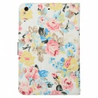 Flower Style Protective PU Leather Case for IPAD MINI / RETINA IPAD MINI - Multicolor