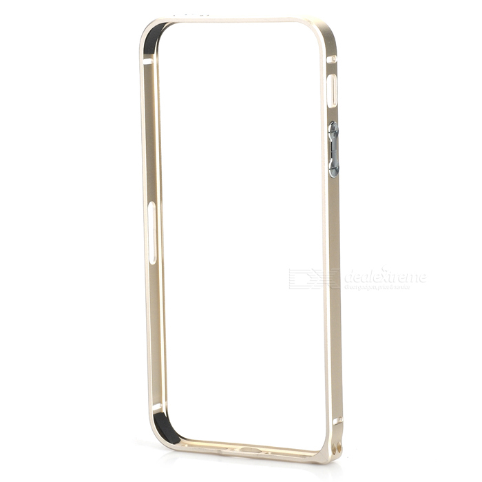 Ultra-Slim Aluminum Alloy Bumper Frame Case for IPHONE 5 / 5S - Champagne Gold nillkin gothic series ultra slim aluminum alloy bumper frame case for iphone 6 silver