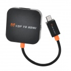 MYDP Male to HDMI Female Adapter for Google Nexus 4 + More - Black