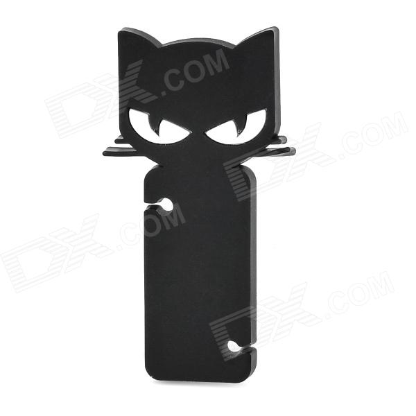 Cartoon Fox Style Earphone Wire Cable Wrapper Organizer - Black + White