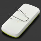 0001 ABS Hanging Type Sunshade Board Car Tissue Box - Yellow Green + White