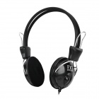 LoTong LH700 Wired Stereo Headphone w/ Microphone + Volume Control for Cellphone - Black