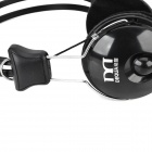 LoTong Wired Stereo Headphone w/ Microphone + Volume Control for Cellphone - Black