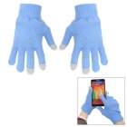 Casual Woolen Yarn Three-finger Touch Screen Gloves for Cellphone / Tablet PC (Pair / Free Size)