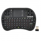 Wireless 2.4GHz 92-Keys Keyboard Air Mouse - Black (Russian)