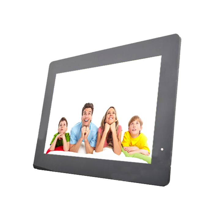 "13"" LED Full blog Desktop Digital Photo Frame w/ SD / 3.5mm / USB - Black (US Plugs)"